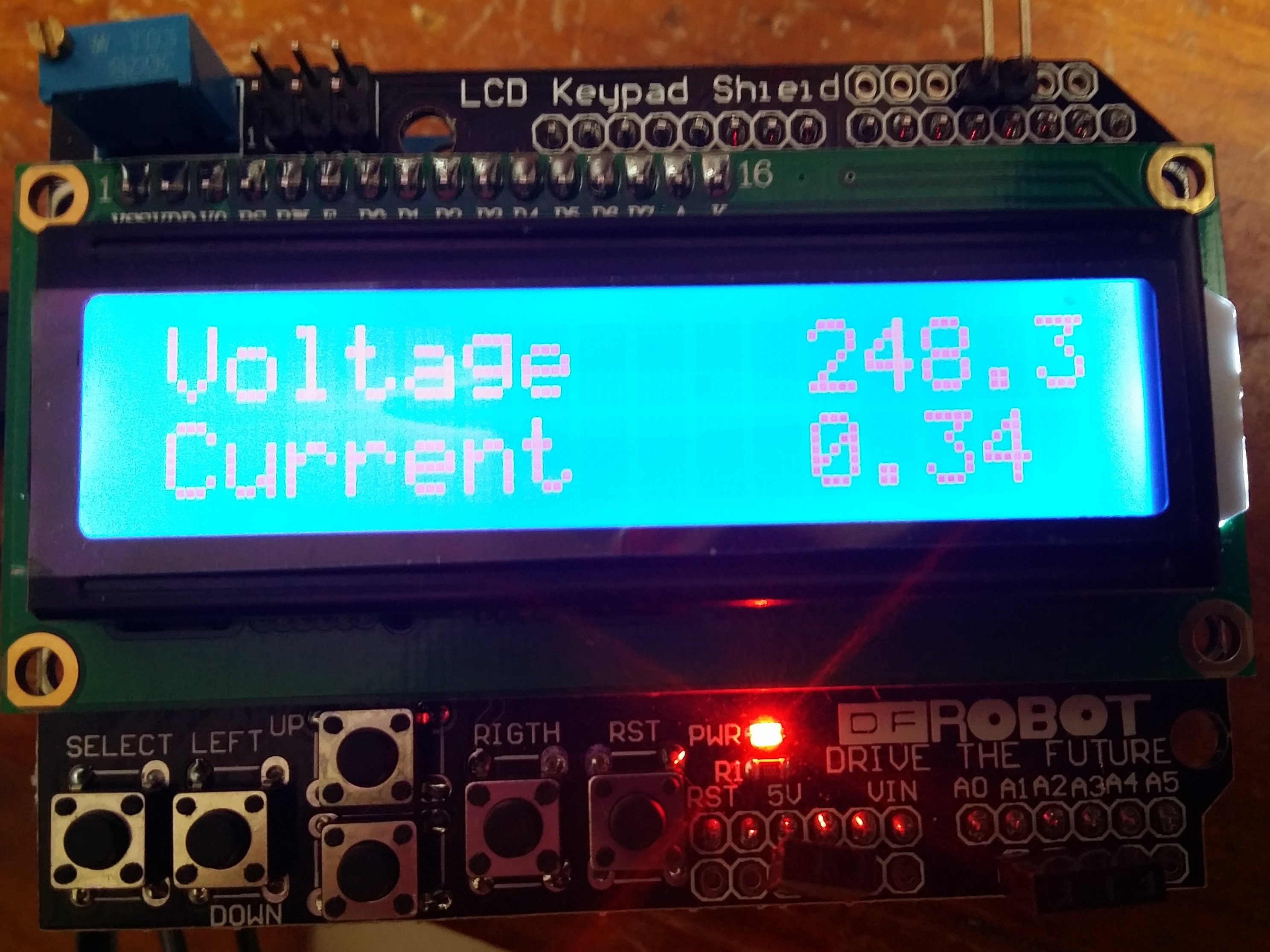 Power Meter – LCD and Arduino based