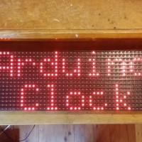 Clock using Arduino and a Freetronics DMD display.